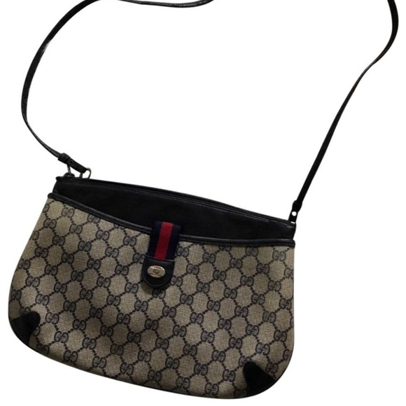 Gucci Handbags - Gucci Webby GG Logo Canvas Leather Cross body